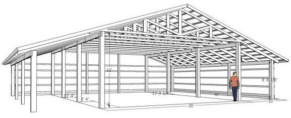 Pole Barns Plans 153 Pole Barn Plans and Designs That You Can ...