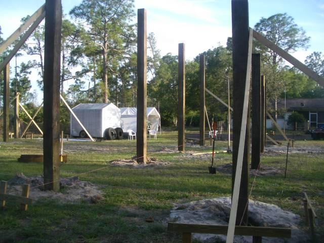 Finally started pole barn 40x50 for 40x50 pole barn