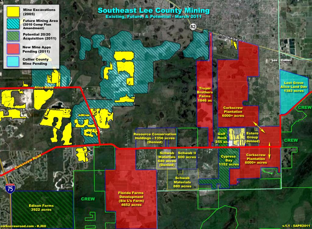 Lee County Map Florida.Corkscrew Road Rural Community Lee County Florida